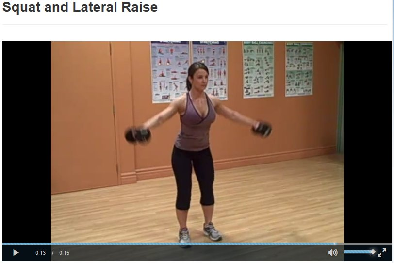 Squat and Lateral Raise Exercise